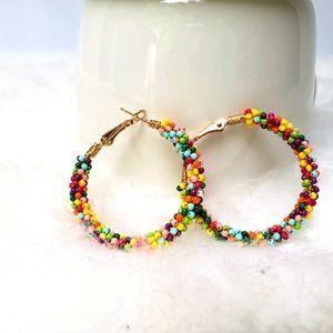 Candy Coated Clusters Hoop Earrings